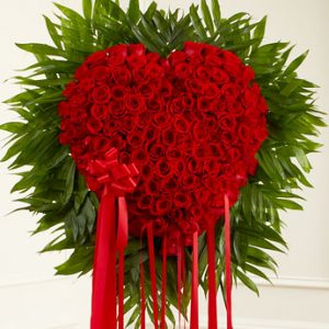 Red Funeral Heart